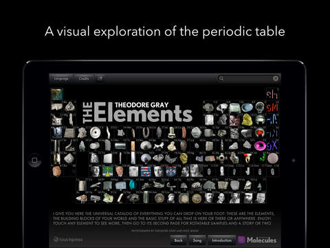 Screenshots of The Elements by Theodore Gray