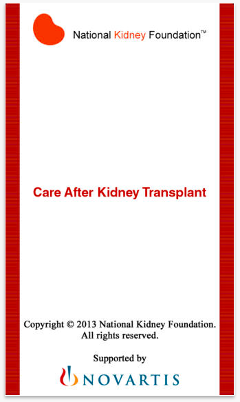 Screenshots of Care After Kidney Transplant