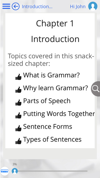 Screenshots of Learn English Grammar, Writing, Spelling and Vocabulary