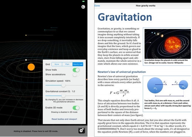 Screenshots of Gravity Lab - Space Physics Simulator