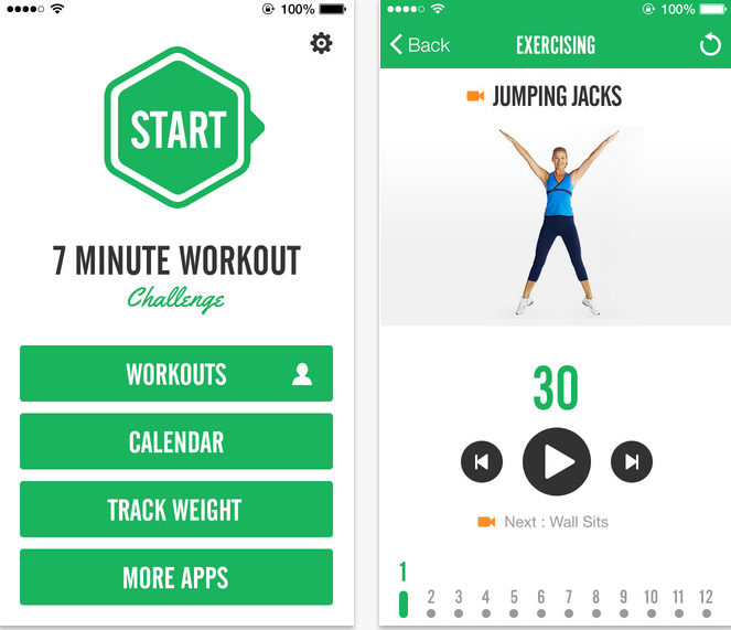 7 minute fitness free workout tracker for ios 7 iphone ipod and