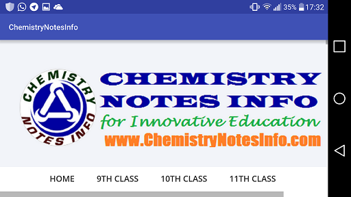 Screenshots of Chemistry Notes Info