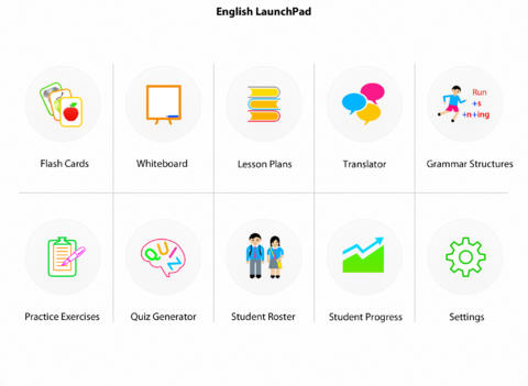 Screenshots of English LaunchPad