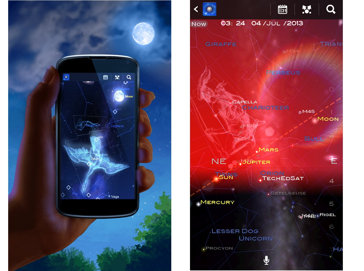 Screenshots of Star Chart